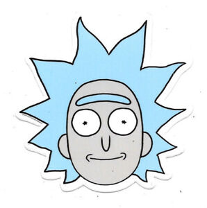rick and morty tv series tiny rick face peel off image sticker decal