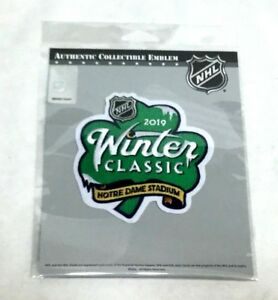 2019 NHL Winter Classic Jersey Patch Notre Dame Stadium Fighting ... 3234fbac1