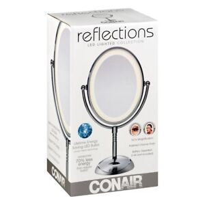 Conair Lighted Makeup Mirror.Details About Conair Lighted Makeup Mirror Double Sided Vanity Mirror 7x Magnification Led New