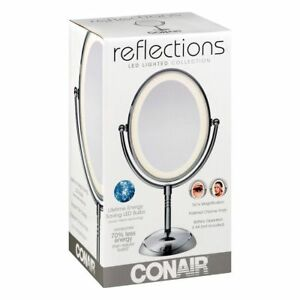 Lighted Makeup Mirror With Magnification.Details About Conair Reflections Vanity Mirror 7x Magnification Led Lighted Makeup Chrome