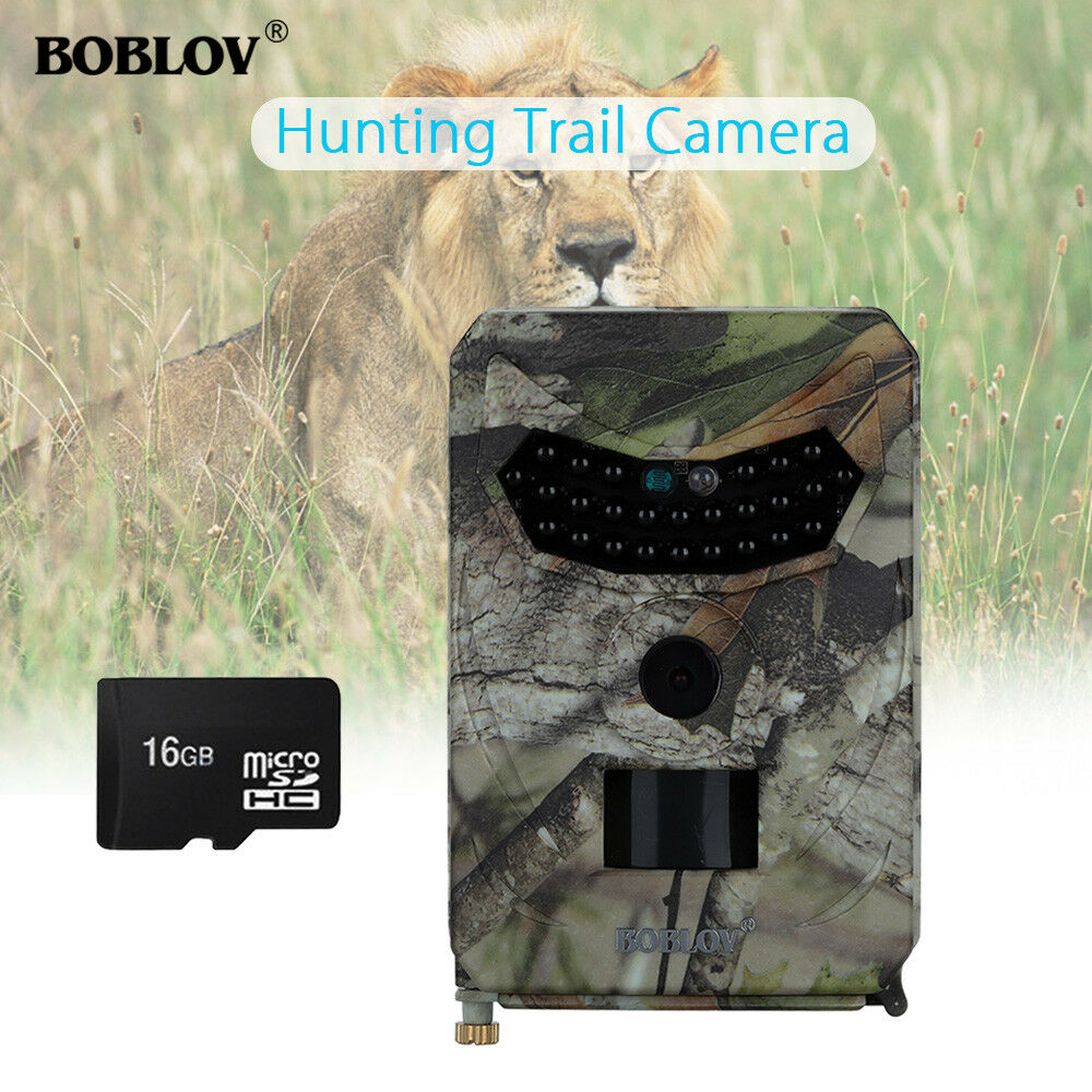1080P HD 12MP Hunting Scouting Trail Camera IR LED Night Farm PIR+Mounting Strap