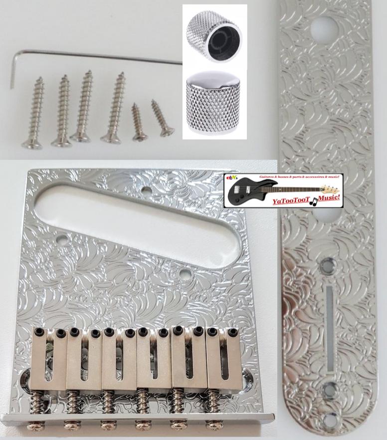 Bridge Telecaster - USA, Steuer- Flach, Knöpfe, Stege - Design - Gitarre Tele