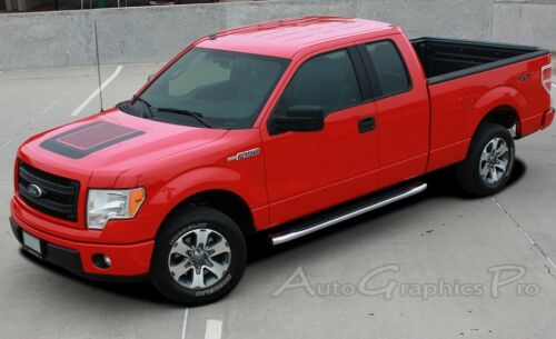 2009-2017 Ford F-150 Truck QUAKE HOOD Digital Print Stripe Decals Graphic EE3522