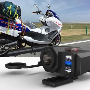 Moto-12V-GPS-allume-cigare-Dual-USB-chargeur-de-prise-de-cour-YF