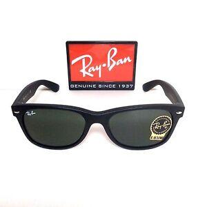 fc5198dcbaeac Ray-Ban Sunglasses RB2132 622 - 55 New Wayfarer black frame G-15 ...