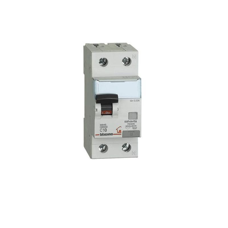 BTICINO GC8813F16 Magnetotermico differenziale classe F 1P+N 16A 30mA 4,5KA
