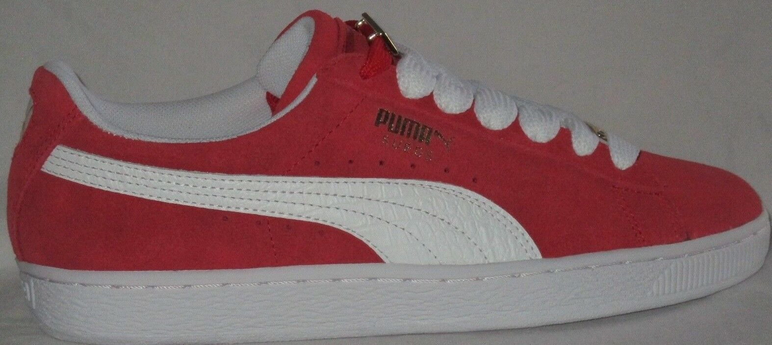 MEN'S PUMA SUEDE CLASSIC BBOY FABULOUS 1968 FLAME SCARLET-WHITE SHOES SIZE 10