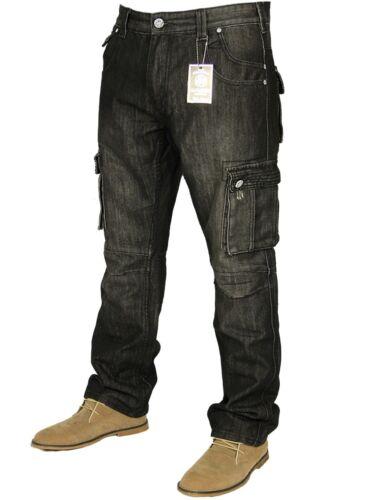 New for men big king size jeans cargo combat regular fit /& leg