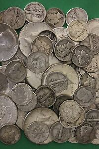 MAKE OFFER Half Troy Pound Mercury Roosevelt Walking Junk 90/% Silver Coins