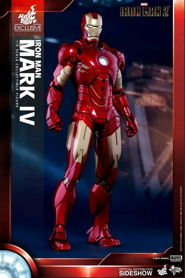 Iron Man 2 - Mark IV 12 1:6 Scale Action Figure Exclusive-HOTMMS338