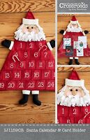 Santa Calendar And Card Holder Sewing Pattern, From Indygo Junction