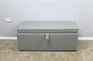 Willow-amp-Hall-Grey-Fabric-Ottoman-Storage-Bedding-Box