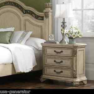 nightstand queen anne antique style bed side table bedroom