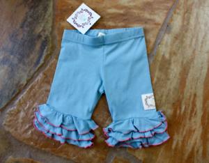 NEW Swanky Baby Vintage Ruffle Leggings 6 months Girls