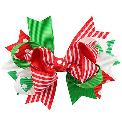 Fashion Christmas Ornaments Baby Girl Bowknot Hairpin Headdress Hair Accessories