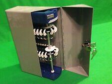 Electric Rotating KEY LOCATOR Cabinet Valet Wall Mount Safe Organizer Lock Box