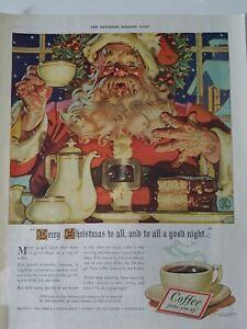1940-Pan-American-coffee-Bureau-Santa-Claus-Leyendecker-art-ad