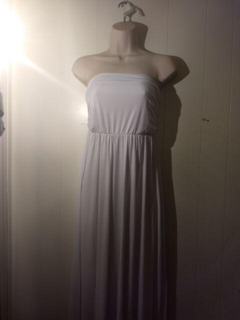 Women\'s Strapless Maxi Dress Plus Size Tube Top Long Skirt Sundress Cover Up