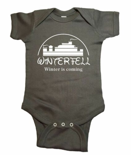 "Game of Thrones Disney Baby One Piece /""Winterfell Winter Is Coming/"" Bodysuit"
