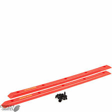 "SANTA CRUZ ""Cellblock Slimline"" Skateboard Rails RED Old School Grab Bars Slide"