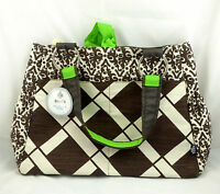 Bella Tunno Basics Baby Bag All Carry All Diaper Bag Brown & Ivory&green