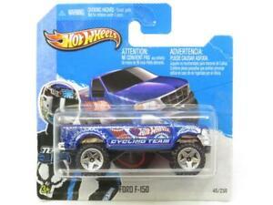 Hotwheels-Ford-F-150-azul-equipo-de-ciclismo-45-250-1-Tarjeta-Corta-Escala-64-Sellado