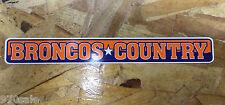 "Broncos Country Mile High Denver Broncos Old School bumper sticker decal 9"""