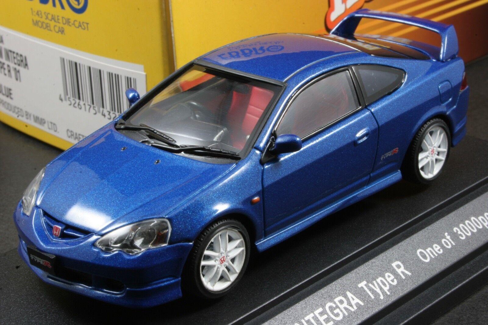 Ebbro 43223 1 43 Honda Integra Type R DC5 2001 Die Cast Model Sport Car (bluee)
