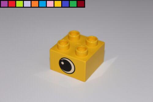 LEGO Duplo-oeil yeux pierre-Jaune 2x2 4er-Bloc de Construction-motif pierre