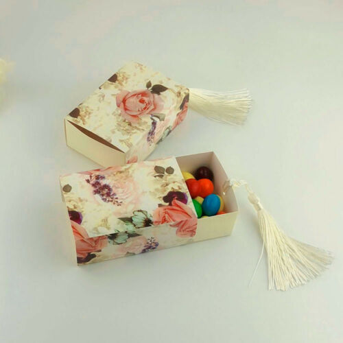 10//20//50//100Pcs Drawer Design Favor Tassel Gift Box Candy Boxes Wedding Party