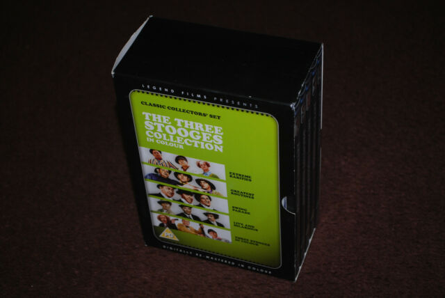 Three Stooges Collection in Color Colour - Rare OOP R2 Legend Films Box Set