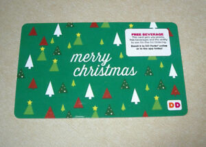 Merry Christmas Gift Card.Details About Dunkin Donuts Coffee Gift Card New No Valve Holiday 2017 Merry Christmas