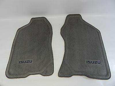 New OEM 1998-2004 Isuzu Rodeo Axiom Front Gray Floor Mat Carpet Set Left Right