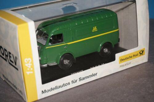 """1:43 Norev 010575 # Renault 1000 KG Kastenwagen in grün /"""" Post-Saar /"""" OVP RF33"""