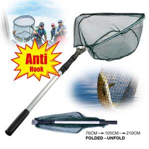 Portable-Telescopic-Fishing-Net-Folding-3-Section-Aluminum-Handle-Landing-Nets