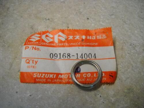 NOS OEM Suzuki Oil Drain Plug gaskt 1969-96 TM75 TS250 Savage VS1400 09168-14004