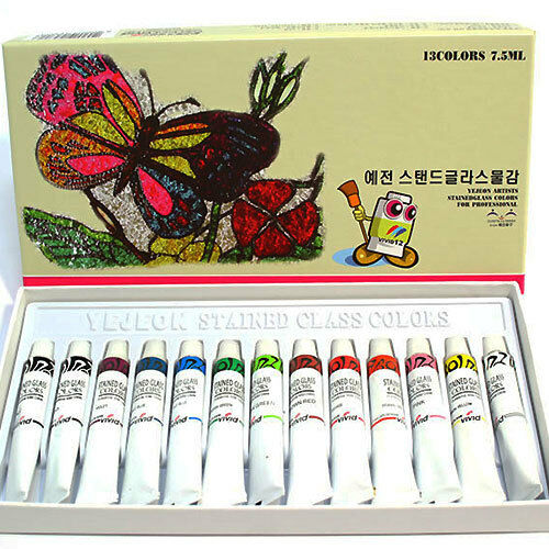 VIVID Artists Stained Glass Colors Art Paint Deco 7.5ml Tube 13 Colors