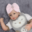 thumbnail 18 - Baby Newborn Soft Striped Hat With Bow Girl Infant Child Beanie Cap Diomand HOT