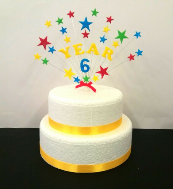 Glitter Star With Personalised Name And Age Birthday Celebration Cake Topper