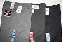 DOCKERS Signature Khaki Men's Pants NWT,Grays & Blacks Flat Front, Slim/Straight