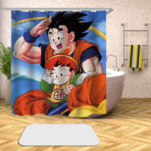 3d Dragon Ball Z Digital Print Waterproof Bathroom Shower Curtain Bathroom Decor Ebay