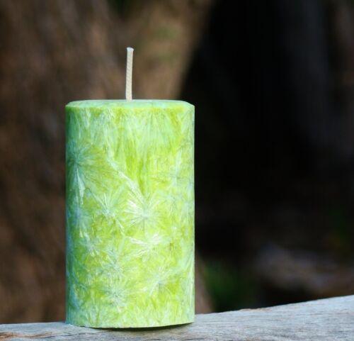 200hr CITRUS LIMES /& VANILLA PASSIONFRUIT Triple Scented Natural Pillar CANDLE