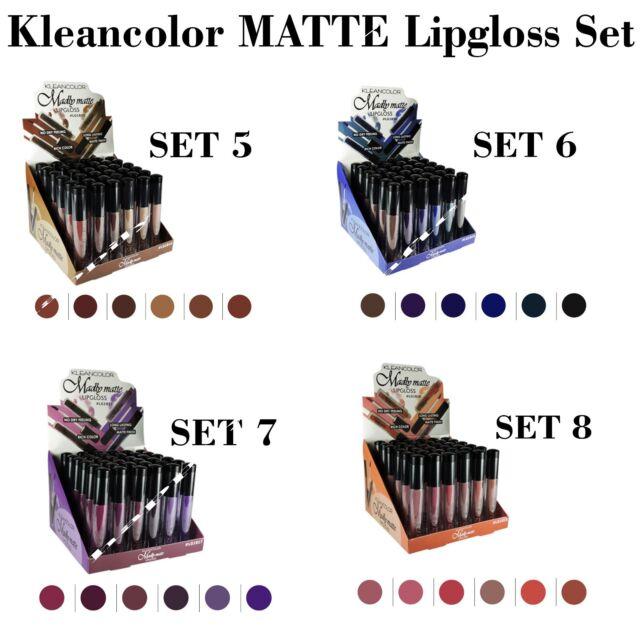 All 24 PCs! Kleancolor Madly MATTE Lip gloss Set
