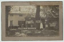 NICE Orig Photo - Will & Min Warren - Gas Station - Socony ca 1920