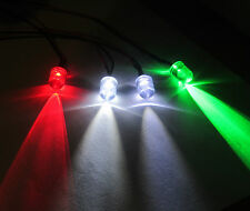 R/C Helicopter Plane Airplane - 4 Navigation Flashing White LED Light Kit 10mm