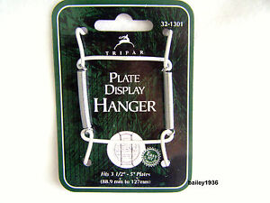 """Plate Hanger 3.5""""- 5"""" WHITE Wire Display Easel TRIPAR 32-1301"""