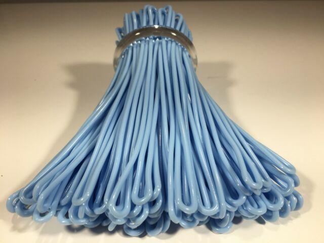 2ba35ecfc56e Pastel Baby Blue Luggage Tag Loops 100 Bag 6 Inch Plastic Worm Loop Travel  SC
