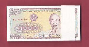 Vietnam-Vietnamese-UNC-Banknote-1000-Dong-1988-Lots-of-1-5-10-20