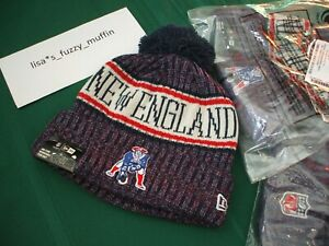 New England Patriots New Era knit pom hat beanie NEW 2018-19 ... 013a0cc38