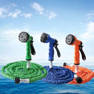 Expandable-Flexible-Magic-Hose-25-50-100-200FT-Water-Pipe-Spray-Nozzle-garden-US